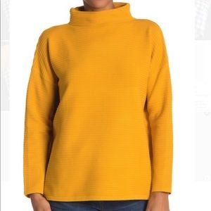 PHILOSOPHY RIBBED MOCK NECK SWEATER